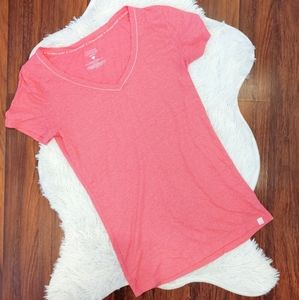 Victoria's Secret Cotton Pink Shimmer T-shirt